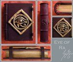 Eye of Ra handcrafted book