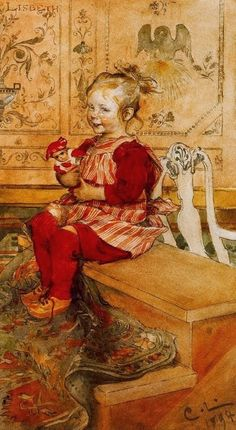 Lisbeth ~ Carl Larsson ~ (Swedish: 1853-1919)  This so reminds me of my girls