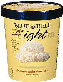 blue bell ice cream light homemade vanilla | Blue Bell Ice Cream Nutrition Information | ShopWell