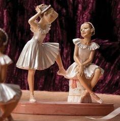 "8 75"" Ballet Duet Figure Statue Figurine Two Ballerinas Ballerina Pink 64581 | eBay"
