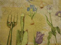 "Gorgeous ""GARDEN WORDS & TOOLS"" by Susan Winget Handmade Cotton Pillowcase #Handmade"