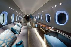 "Expensive Private Jet - Luxury Plane Private jet seats are nearly always cushy, comfortable, leather recliners,"" says Tivnan. ""The seats are modular, and can be modified on most jets. Configuration is..."