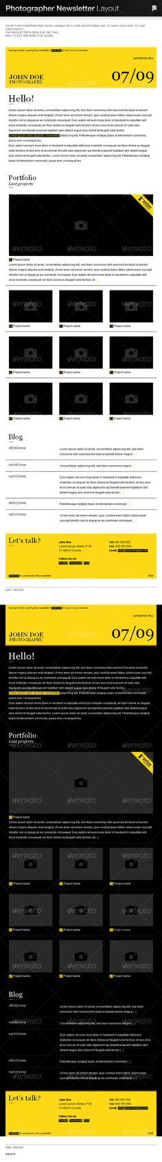 Clear Newsletter  Indesign   Folder  Newsletter Templates
