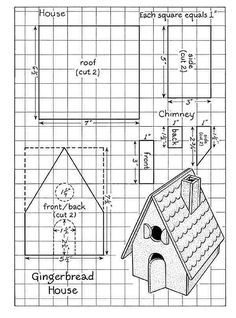 gingerbread house template: