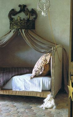 I am making this bed into a couch soon--just need to find the antique bed.