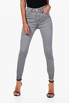 rewardStyle Lara High Waist Distressed Ankle Skinny Jeans