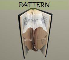 Book folding Pattern: FOUR LEAF CLOVER design (including instructions) – Diy gift – Papercraft Tutorial