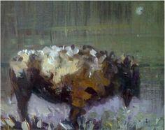 Lone Bison by Kira Fercho