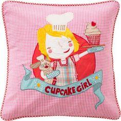 DECOILUZION - Funda de cojín Cupcake Girl de Room Seven