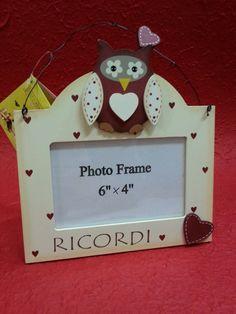 Portafoto legno gufetto - foto 15x10 - Idea regalo Natale in Casa, Arredamento e Bricolage | eBay