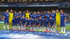 Shortly before the game against Real Sociedad, the Chelsea players were introduced to Blues fans at Stamford Bridge