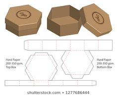 Cut box packaging design packaging template box die cut template box packaging box template cut Vectors, Photos and PSD files Box Packaging Templates, Packaging Design, Diy Gift Box Template, Gift Box Packaging, Jewelry Packaging, Paper Gifts, Diy Paper, Paper Box Template, Cute Box