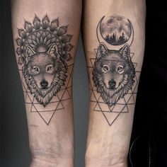 Dark and light wolves for identical twin brothers!