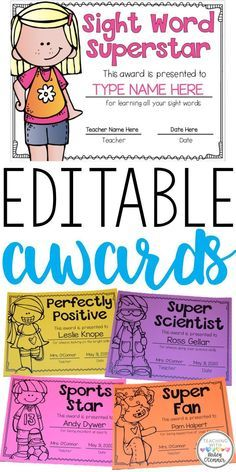 Editable awards to c Kindergarten Themes, Kindergarten Classroom, Kindergarten Rocks, Kindergarten Graduation, Teacher Education, Special Education Classroom, Classroom Resources, Teaching Resources, Fun Awards