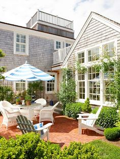 summer patio-i like this one because it looks like they werent trying too hard to make it look cozy