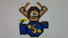 Sabaton - Robban Bäck, Drums Bead Crafts, Jewelry Crafts, Diy And Crafts, Crafts For Kids, Mega Man, Bead Patterns, Plastic Canvas, Perler Beads, Pixel Art