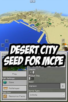 Minecraft PE Desert City Seed:bigneon