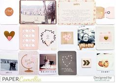 SandrinEve: janvier avec le kit de #PaperCamellia #projectlife