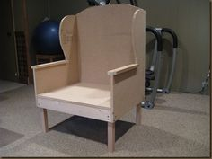 DIY wingback chair