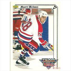 Upper Deck 1992 NHL Hockey Trading Card #394 Marty McInnis #28 Team USA Center on eBid Canada $1.00