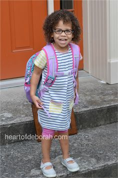 2e8c815b87b Our daughter s first day of preschool. Dress by  Boden