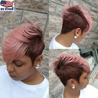 Hair closest to the physical properties, appearance, feels very like human hair. Hair Net Color : Black and Pink. Black Women Short Hairstyles, Cute Hairstyles For Short Hair, My Hairstyle, Short Hair Cuts, Girl Hairstyles, Curly Hair Styles, Natural Hair Styles, Spiky Hairstyles, Hairstyles 2016