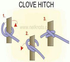 Clove Hitch Knot --www.netknots.com