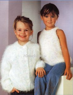 Girls knitting pattern girls mohair cardigan mohair top mohair sweater sleeveless top round neck 20-30 inch Mohair pdf instant download by Minihobo on Etsy