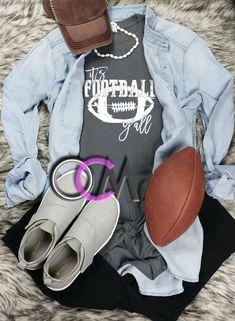 It's Football Y'all T-shirt, Ladies Football Shirt, Women's Football Shirt, Its Football Yall Tee, Football Tee- Tshirt - One Crafty Momma Football Mom Shirts, Women's Football, Adidas Sneakers, Crafty, Game, Tees, Clothing, T Shirt, Fashion