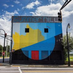 """""""Duality mural by @elianchali for @livingwallsatl ... I love the hidden art in the ATL"""" . credit: @stuffreidlikes . . C'monBoard #Atlanta is your guide to the best #Atlanta happenings. To find out things to do in Atlanta, keep an eye on the CB website [link in the bio] . . Make sure to check out our Atlanta-themed products at www.cmonstore.com"""