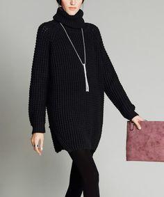Look at this #zulilyfind! Black Turtleneck Sweater #zulilyfinds