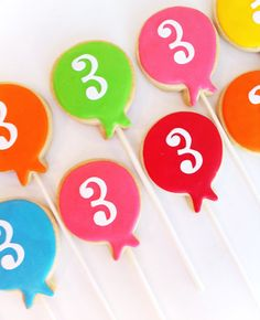 Bunch of Balloons Cookie Favors 1 dozen cookies by SunshineBakes, $33.00