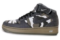 Nike Air Force 1 Low Premium Camouflage Color Mens Shoes-$93