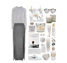 39. by sabon on Polyvore featuring polyvore fashion style Wood Wood Wes Gordon Balenciaga Just Acces Glitzy Rocks Illesteva Uncommon NIKE clothing gray