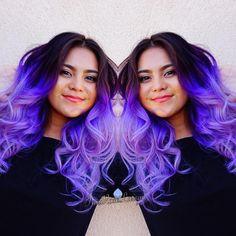 Dip dye purple ombre