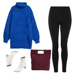 - Start with an oversized turtleneck rendered in a bold hue that's also long enough to cover the bum. Add on white boots and a suede carryall as finishing touches.