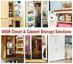 How to get organized 2014 by using the inside of a cabinet or closet door. Four Generations One Roof