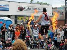Fire Whips with Seb Whipits at Dundas Buskerfest 2012