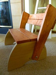 Child's Chair and Stool by The Chicago Bench Co.