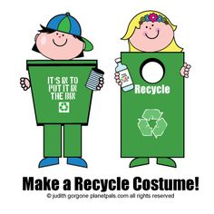 DIY Halloween Recycle Costume Directions.
