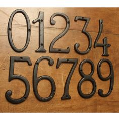 """6"""" Traditional Black Cast Iron House Numbers"""