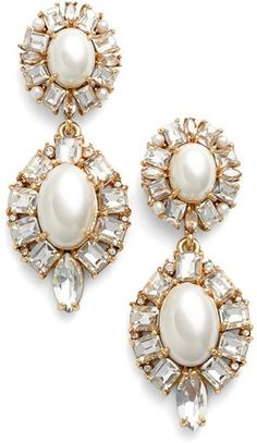 Kate Spade New York Faux Pearl Drop Earrings