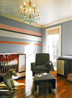 yes, you can put a fabulous chandelier in a little boy's room