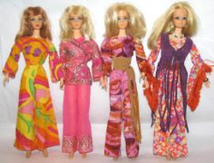 4 Vintage Barbie Mod Dolls New Living Live Action PJ Taiwan w Clothes Rooted | eBay