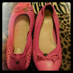 SPERRY Flats 8.5  Pink Women's  Sperry Top-sider Flats Size 8.5?Only wore once..Excellent Condition just the bottom of the shoes are dirty from wearing outside Sperry Top-Sider Shoes Flats & Loafers