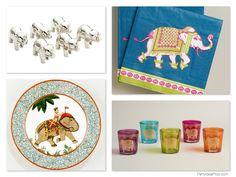 Curry Dinner Party - Elephant table decor