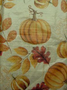 52x70 Elrene Holiday Harvest Vinyl /Flannel Backed Tablecloth Oblong  MULTI COLOR