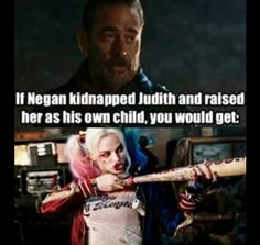 The Walking Dead #negan #judith #harleyquinn #TWD