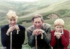 Prince Charles with William and Harry in 1996.