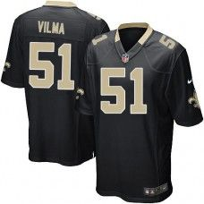 NFL  Youth Game Nike New Orleans Saints #51 Jonathan Vilma Team Color Black Jersey